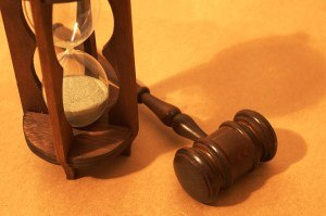 Hourglass and Gavel